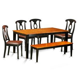 August Grove Pillar 6 Piece Wood Dining Set