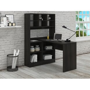 Coupon Yeadon L-Shape Writing Desk with Hutch By Latitude Run