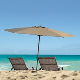 Wood Pole Beach Umbrella Wayfair
