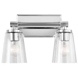 Read Reviews Houpt 2-Light Vanity Light By Latitude Run