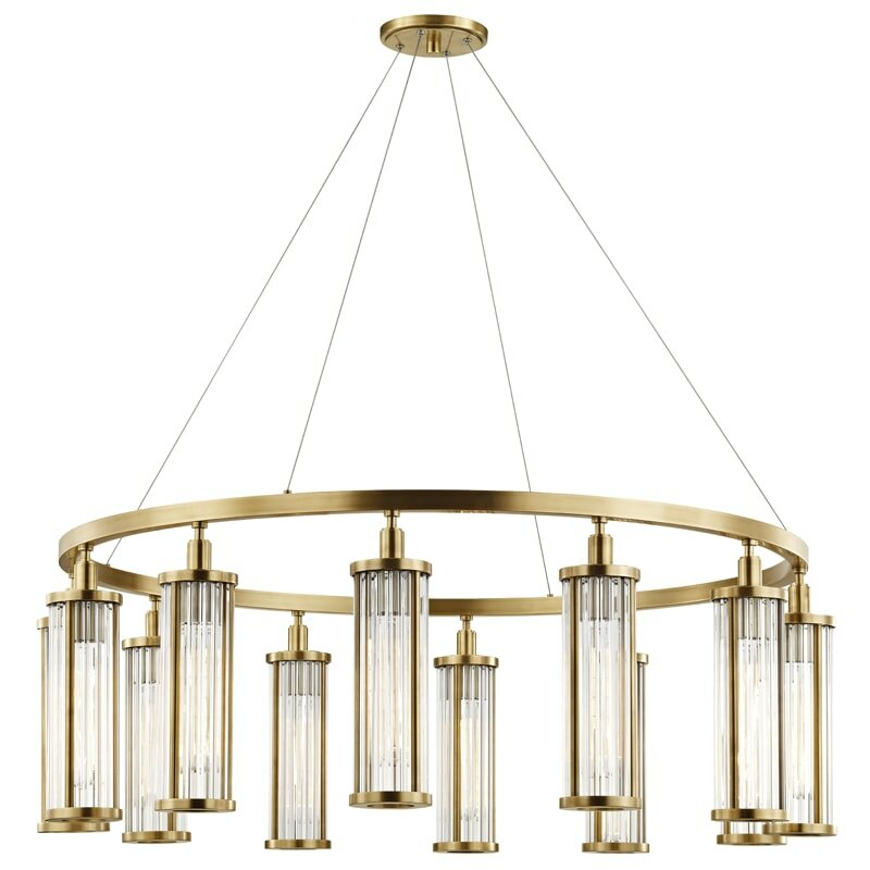Brayden Studio Talus 12 Light Unique Statement Wagon Wheel Chandelier Wayfair