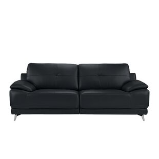Soelberg Leather Sofa by Ebern Designs Cool