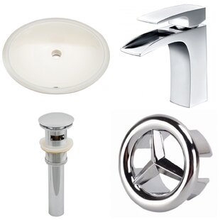 Best Price CUPC Ceramic Oval Undermount Bathroom Sink with Faucet and Overflow ByAmerican Imaginations