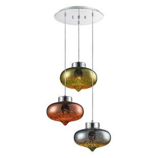 Armiead 3-Light Cluster Pendant by World Menagerie