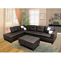 Deals on Winston Porter Roughton Faux Leather Modular Sectional Sofa