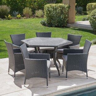 Ebern Designs 7 Piece Dining Set with Cushion