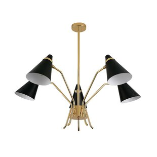 George Oliver Zackery 5-Light Shaded Chandelier