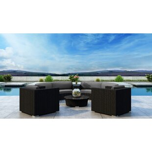 Glendale 6 Piece Sectional Set with Sunbrella Cushion