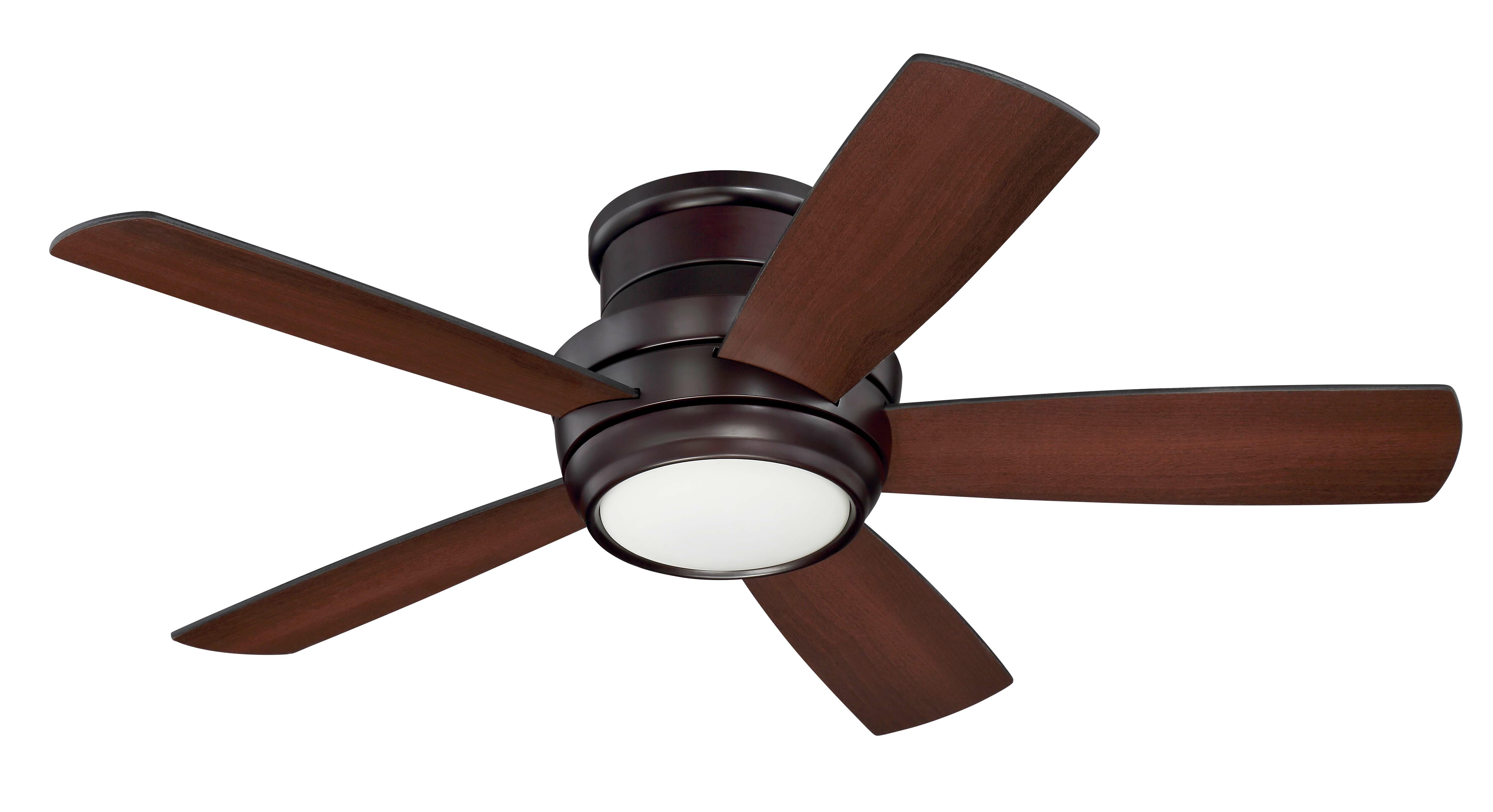 44 Cedarton Hugger 5 Blade Led Ceiling Fan Light Kit Included Reviews Allmodern
