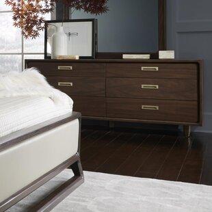 Corrigan Studio Arlo 6 Drawer Double Dresser