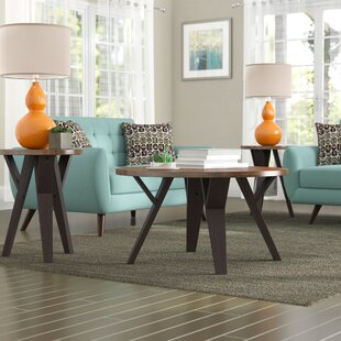 Sliva 3 Piece Coffee Table Set Mercury Row