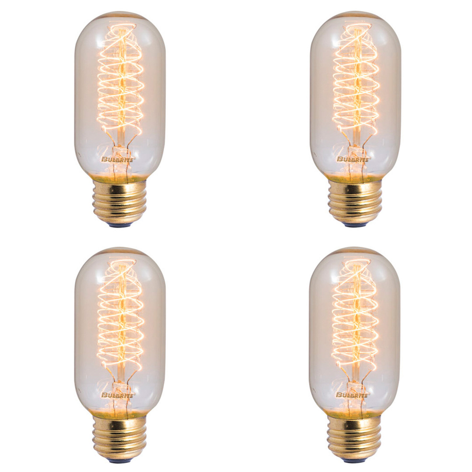 40 watt t14 incandescent dimmable light bulb 2200k base