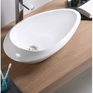 Read Reviews Vitreous China Oval Vessel Bathroom Sink By Fine Fixtures