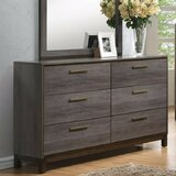 Amya Glided 6 Drawers Double Dresser by Corrigan Studio®