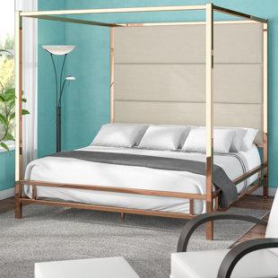 Moyers UpholsteredCanopy Bed by Mercury Row