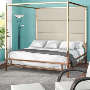 Best Price Moyers Upholstered Canopy Bed by Mercury Row Reviews (2019) & Buyer's Guide