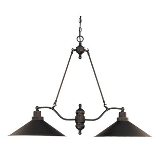 schaff 2 light kitchen island pendant - Black Kitchen Lights