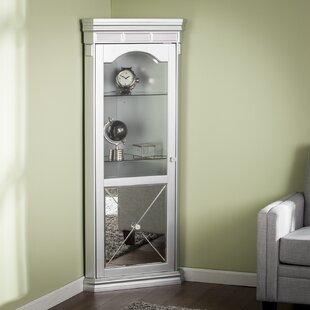 Adriana Lighted Corner Curio Cabinet by Willa Arlo Interiors