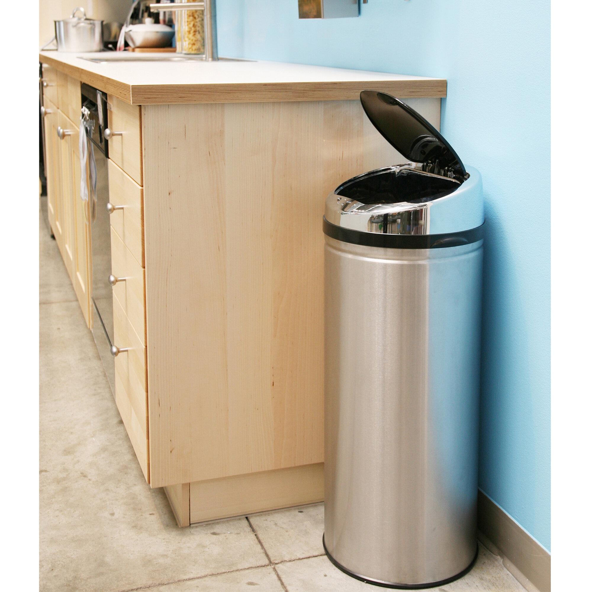 Erlandson Stainless Steel 13 Gallon Motion Sensor Trash Can Reviews Allmodern