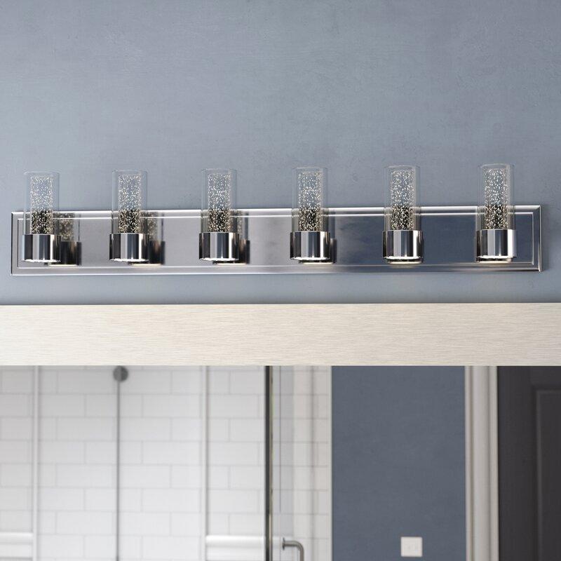Orren Ellis Andi LED 6-Light Vanity Light & Reviews | Wayfair