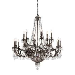Astoria Grand Suniga 23 Light Crystal Candle Chandelier
