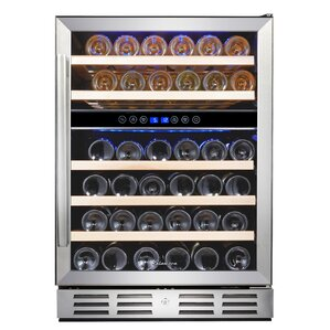 46 Bottle Dual Zone Built-In Wine Cooler by Kalamera