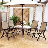 Auby 5 Piece Bistro Set (Set of 5)