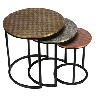 Pugliese 3 Piece Nesting Tables by World Menagerie
