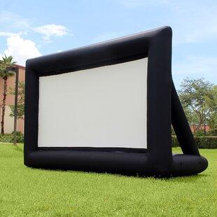 Jumbo White 16 Diagonal Portable Projection Screen by Khomo Gear