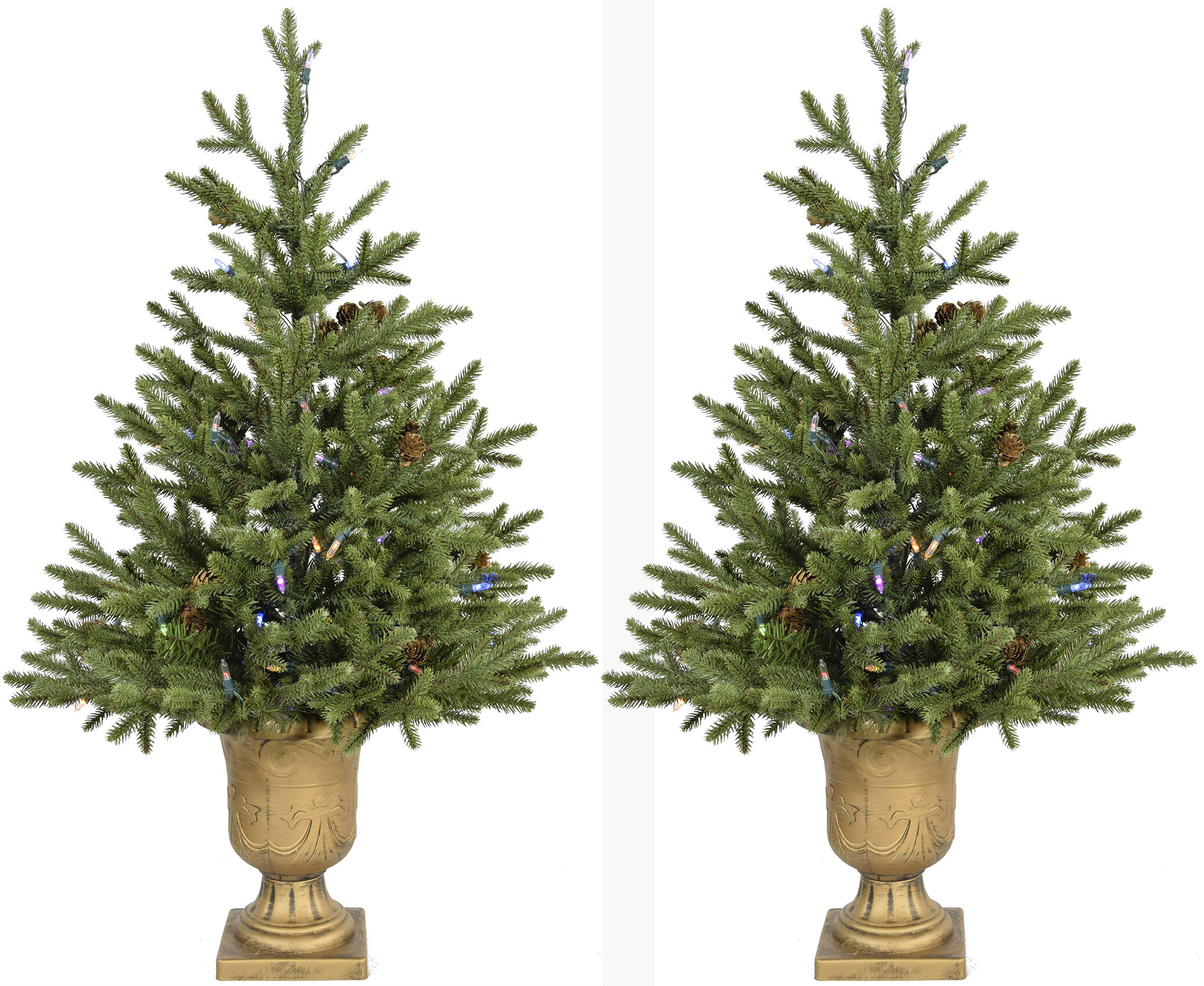 The Holiday Aisle Noble 4\' Green Fir Artificial Christmas Tree with ...