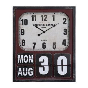 3ff46451c0cb Farmhouse & Wooden Clocks You'll Love | Wayfair