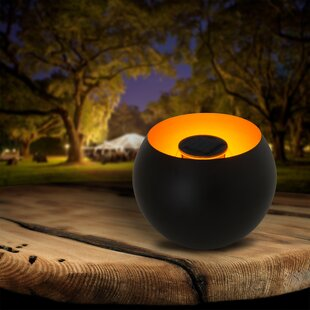Vereen Black Solar Powered LED Outdoor Table Lamp By Sol 72 Outdoor