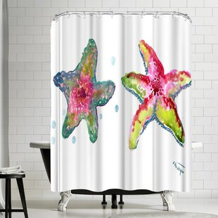 Suren Nersisyan Starfish Colorful Single Shower Curtain