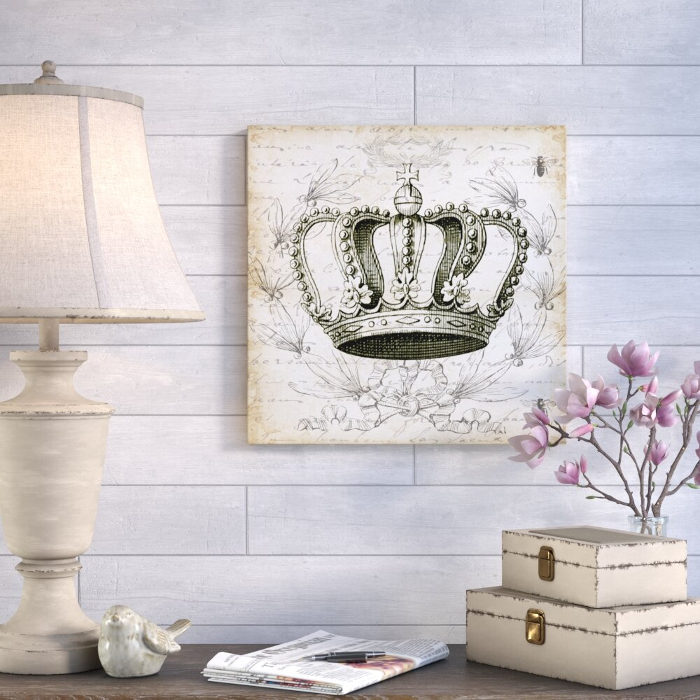 Ophelia Co French Laurel Wreath Crown Graphic Art Print On