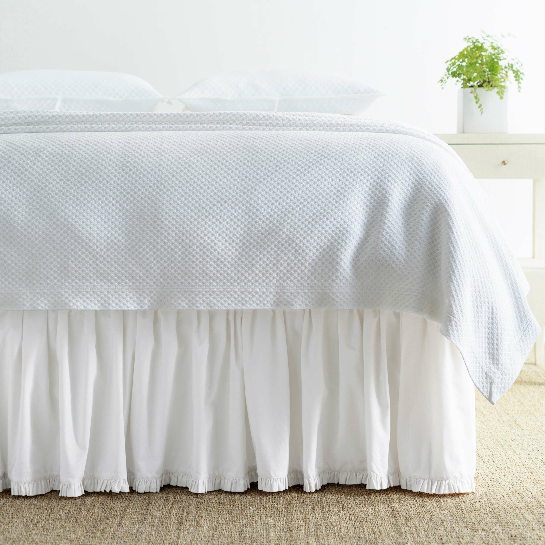 """Eyelet Ruffled Bedskirt Ruffled Bedding with Gathered Styling 18"""""""