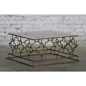 Reatha Marble Top Coffee Table by Everly Quinn