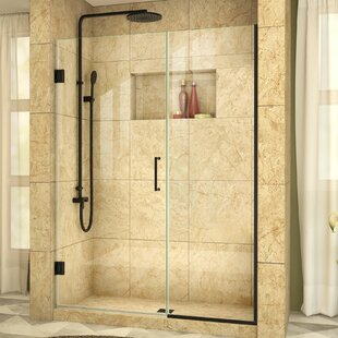 Unidoor Plus 50 x 72 Hinged Frameless Shower Door with Clearmax? Technology by DreamLine