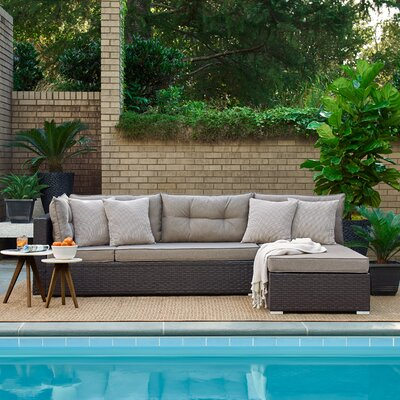Ayden Patio Sectional with Cushions Relax A Lounger