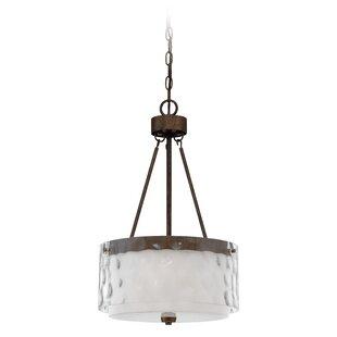 Laurel Foundry Modern Farmhouse Vidette Glass Shade 3-Light Pendant