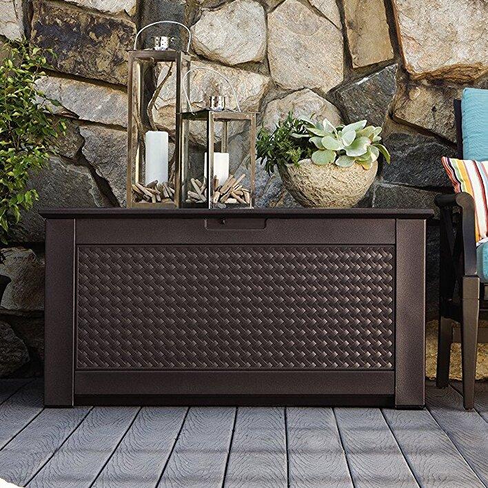 Patio Chic™ 93 Gallon Resin Deck Box