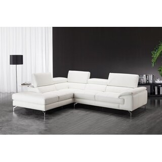 "36.2"" H x 105"" W x 65.7""D Chambersburg Leather Sectional by Wade Logan SKU:DA573176 Check Price"