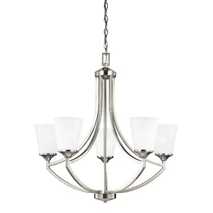 Darby Home Co Elkton 5-Light Shaded Chandelier