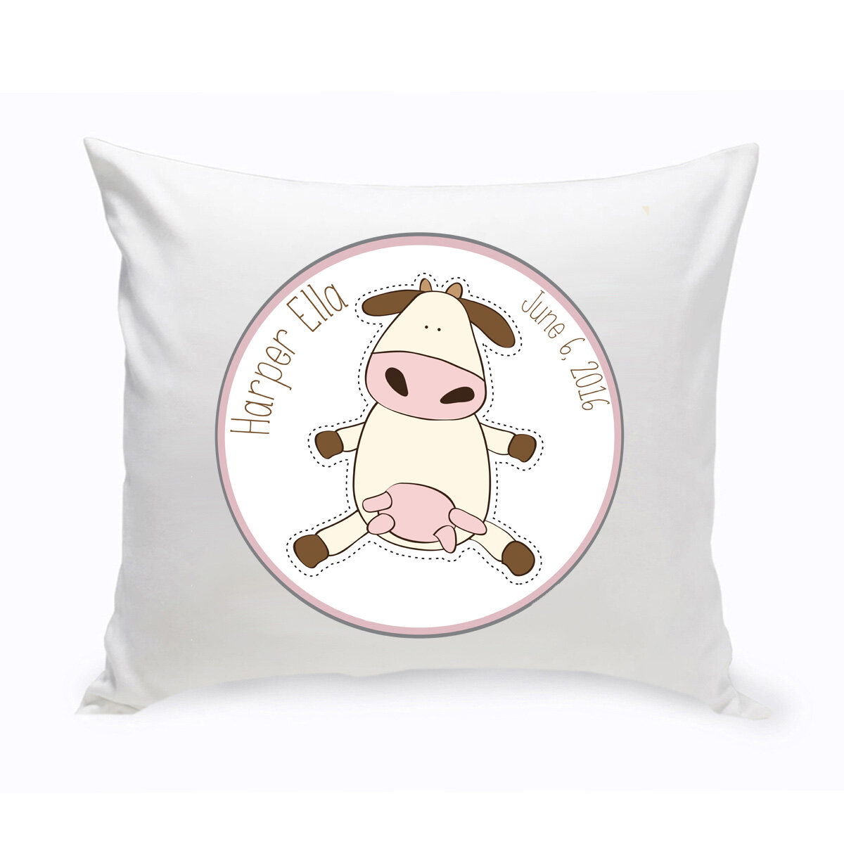 Jds Personalized Gifts Baby Nursery Cow Cotton Throw Pillow Wayfair