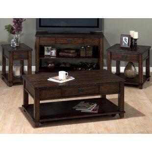 Loon Peak Boscobel 4 Piece Coffee Table Set