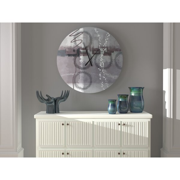 Latitude Run Steady Pioneering Abstract Metal Wall Clock Wayfair