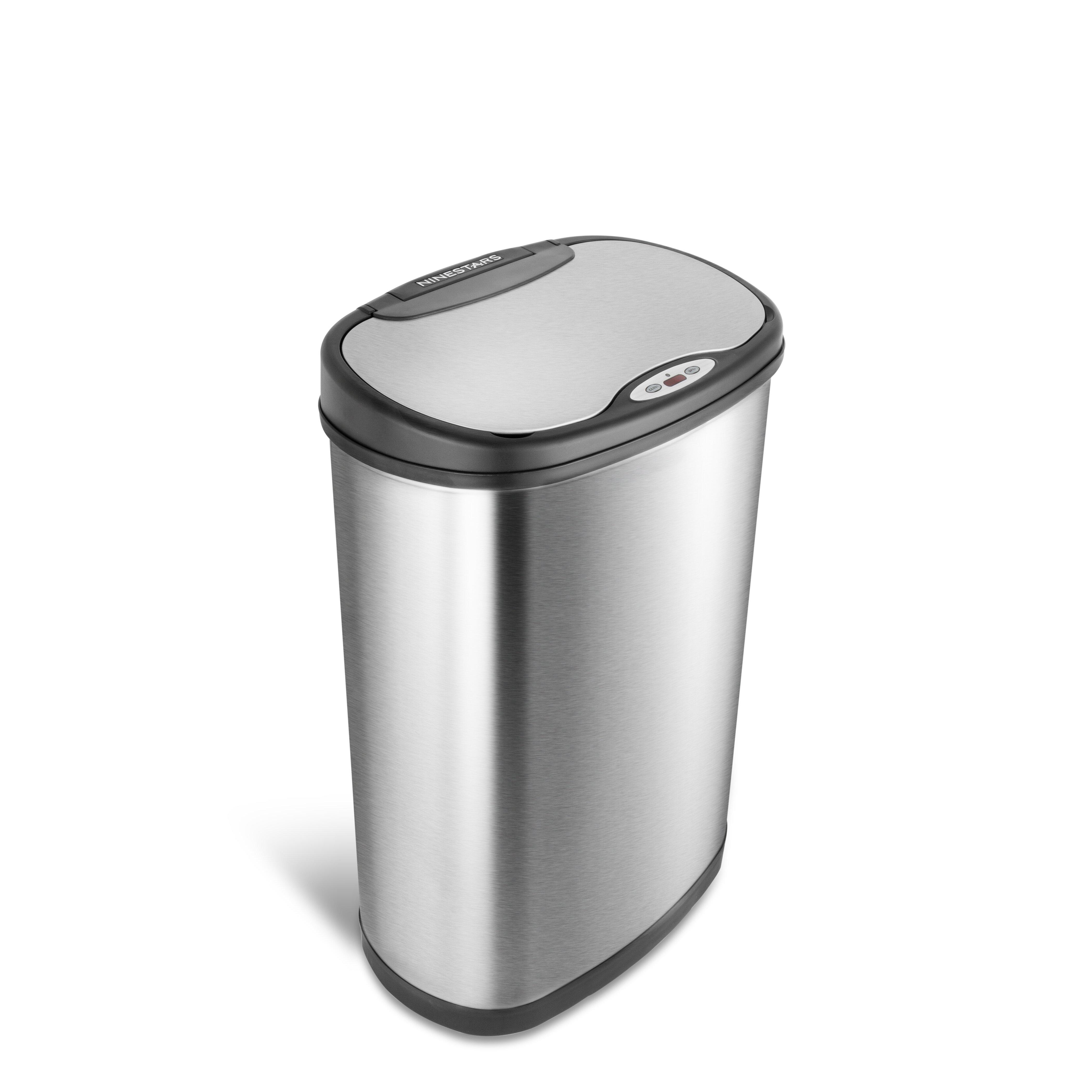 Nine Stars Stainless Steel 13 2 Gallon Motion Sensor Trash Can