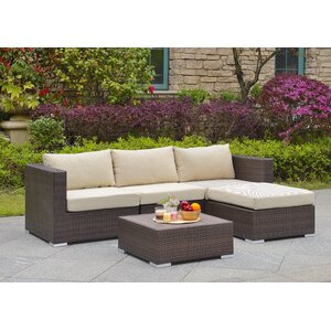 Asther 5 Piece Deep Seating Group with Cushion