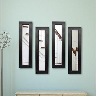 Latitude Run 4 Piece Scioli Panels Mirror Set (Set of 4)