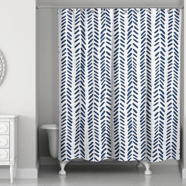 white eyelet shower curtain