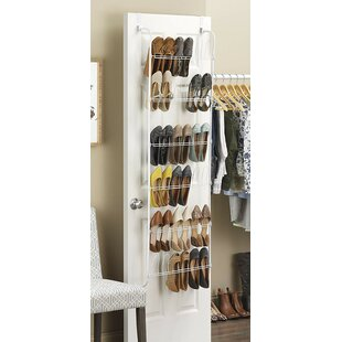 Read Reviews 18 Pair Overdoor Shoe Organizer By Rebrilliant